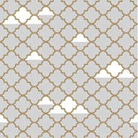 Tempaper Clouds Removable Wallpaper Grey Gold Gray
