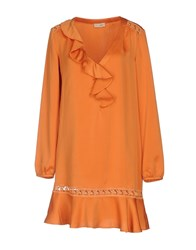 Scee By Twin Set Short Dresses Orange