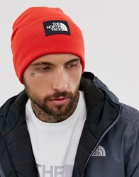 The North Face Dock Worker Recycled Beanie In Red
