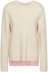 Chinti And Parker Woman Two Tone Wool Cashmere Blend Sweater Ivory