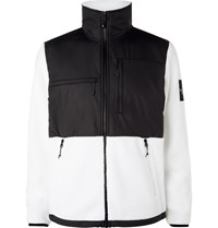 The North Face Denali Panelled Fleece And Shell Jacket White