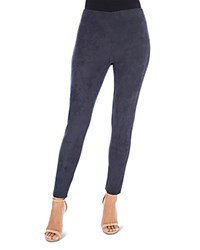 B Collection By Bobeau Roland Faux Suede Leggings Midnight Navy