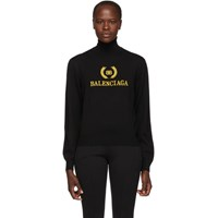 Balenciaga Black Embroidery Turtleneck