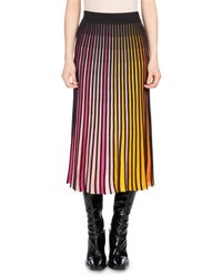Kenzo Pleated Jersey Midi Skirt Multicolor