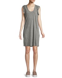 Current Elliott The Cadence Scoop Neck Heathered Dress Gray