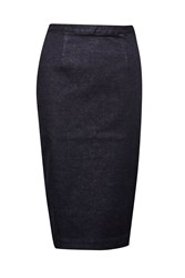 French Connection Svelte Denim Pencil Skirt Black