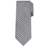 Daniel Hechter Shadow Diamond Woven Silk Tie Black White