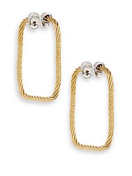 Alor 18K Yellow Gold And Stainless Steel Rectangular Hoop Earrings