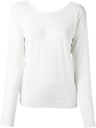 Theory Deep V Back Sweater White