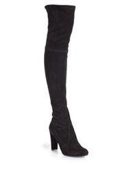 Stuart Weitzman Highland Suede Over The Knee Boots Bordeaux Grey Black