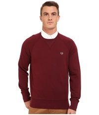 Fred Perry Loopback Crew Sweater Mahogany Men's Sweater