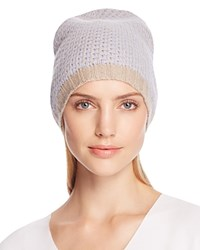 Bloomingdale's C By Cashmere Honeycomb Slouch Hat 100 Exclusive Dusk Oatmeal