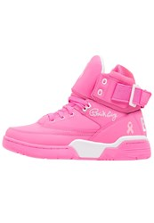 Ewing 33 Hightop Trainers Pink Rose