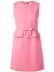 Red Valentino Peplum Mini Dress Pink Purple