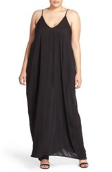 Elan Plus Size Women's Cover Up Maxi Dress Black