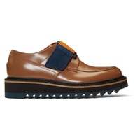 Dries Van Noten Beige Strap Lace Up Derbys