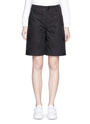 Chictopia Hen Embroidered Cotton Shorts Black