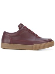 Marni Low Top Sneakers Men Leather Rubber 44 Red