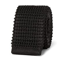 Lanvin 5Cm Knitted Silk Tie Black
