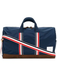 Thom Browne Unstructured Holdall In Nylon Tech And Suede Blue