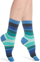 Paul Smith Geraldine Degrade Crew Socks Blue