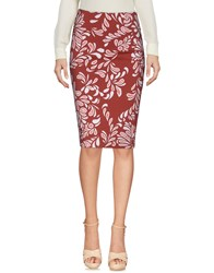 Christies A Porter Knee Length Skirts Brick Red