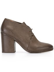 Roberto Del Carlo Lace Up Block Heel Shoe Brown