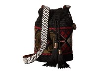 The Sak Sayulita Drawstring Black Tribal Drawstring Handbags
