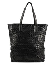 Day And Mood Jamie Leather Tote Black