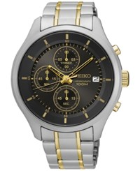 Seiko Men's Chronograph Special Value Two Tone Stainless Steel Bracelet Watch 43Mm Sks543 Two Tone