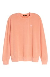 Obey Faded Pigment Dyed Sweatshirt Coral
