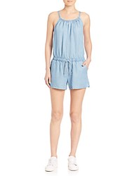 Splendid Chambray Short Jumpsuit Light Wash