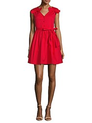 Walter Baker Lauren Cotton Dress Red