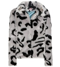 Shrimps Bingo Faux Fur Jacket Grey