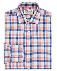 Thomas Pink Tufnell Check Dress Shirt Bloomingdale's Regular Fit 100 Exclusive White Multi