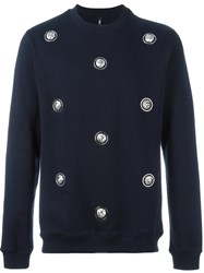 Versus Lion Head Studded Sweatshirt Blue