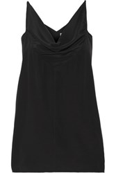 Rick Owens Draped Satin Tank Black