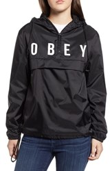 Obey Anyway Hooded Anorak Black