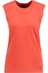 Marc By Marc Jacobs Cotton Jersey Tank Bright Orange