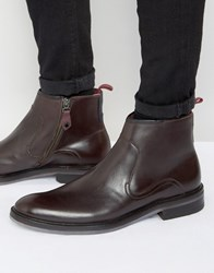 Ted Baker Rousse Polished Zip Boots Brown