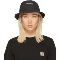 Carhartt Work In Progress Black Script Bucket Hat
