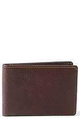 Boconi Men's 'Tyler' Rfid Slimster Wallet Brown Coffee