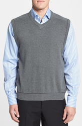 Cutter And Buck 'Broadview' Cotton V Neck Vest Charcoal Heather