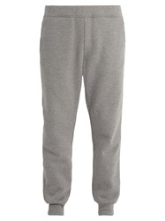 Acne Studios Forbyn Mid Rise Cotton Track Pants Grey