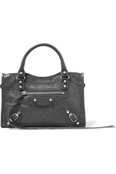 Balenciaga Classic City Mini Textured Leather Tote Gray Gbp