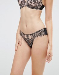 Gossard Vip Dark Romance Brazilian Charcoal Blush Black