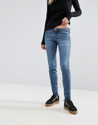 Noisy May Eve Lo Rise Skinny Jean With Released Hem Blue