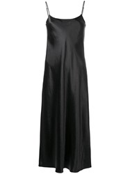 Vince Slip Midi Dress Black