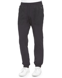Michael Kors Woven Track Pants With Mesh Pockets Black