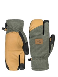 Quiksilver Leather Snow Trigger Mittens